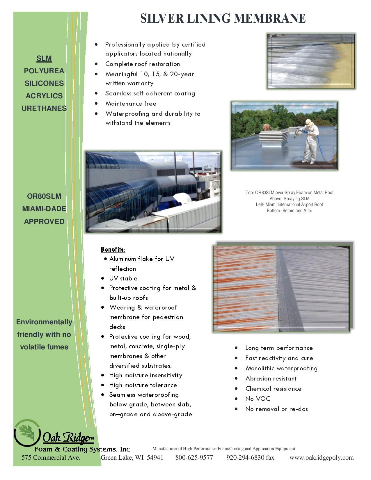 Miami Dade Approved Commercial Roof Coating Oak Ridge