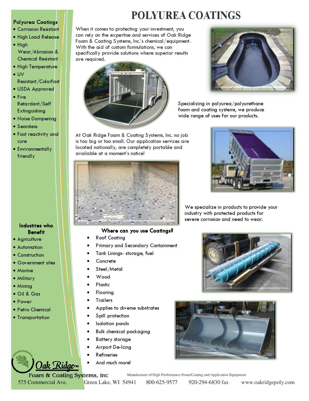 PG 7 – Polyurea Coatings-page-001 | Oak Ridge Foam & Coating